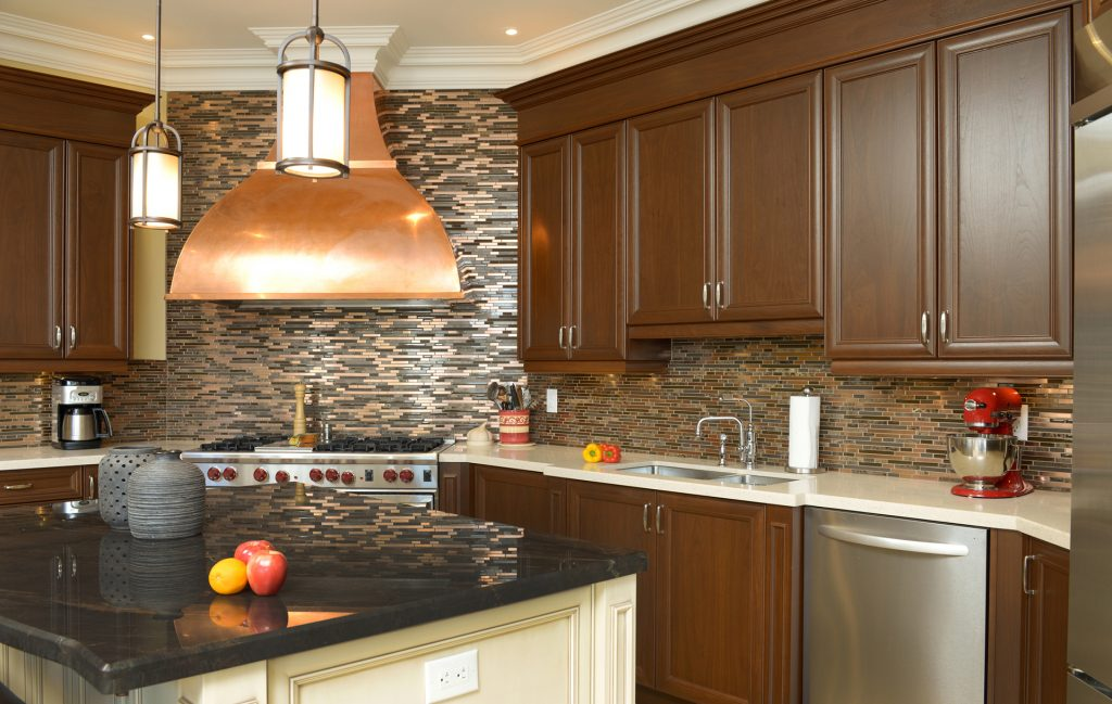 kitchen with copper touches, classic kitchen ideas, kitchen showroom kent